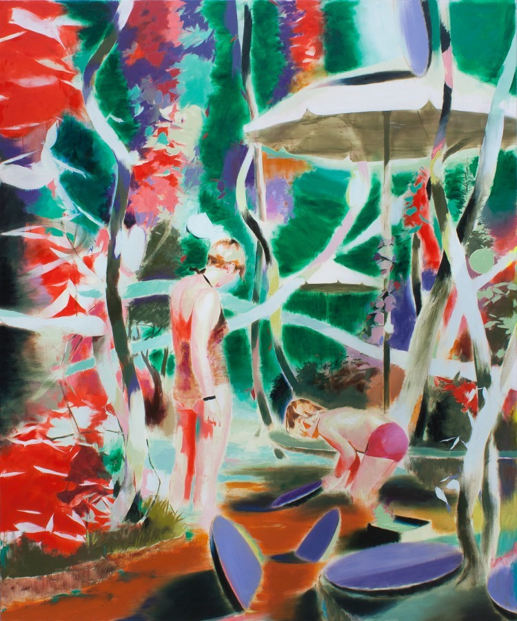 Art Alarm – Tomomi Morishima, o.T., 2017, Öl auf Leinwand, 240 x 200 cm