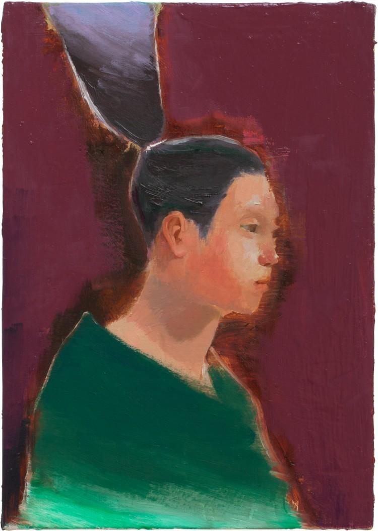 Art Alarm – Tomomi Morishima, o.T., 2017, Öl auf Leinwand, 30 x 21 cm