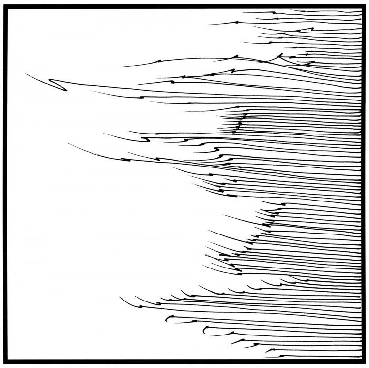 Art Alarm – Nikola Lutz, GraphicSound III, 2014, Inkjet/Backlit Folie, 14 x 14 cm