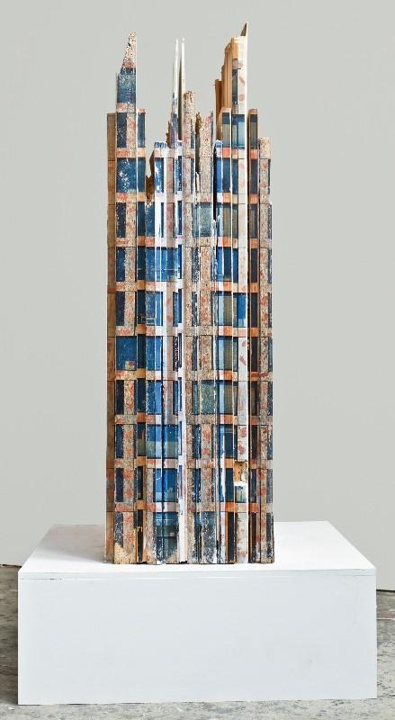 Art Alarm – Marc Dittrich, Schichtwechsel 1, 2016, Fototransfer auf Holz, 104 x 32 x 55 cm
