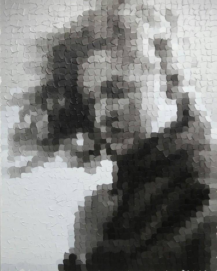 Art Alarm – Sami Lukkarinen, Young Marilyn 2, 2016, Öl auf Leinwand, 200 x 160 cm