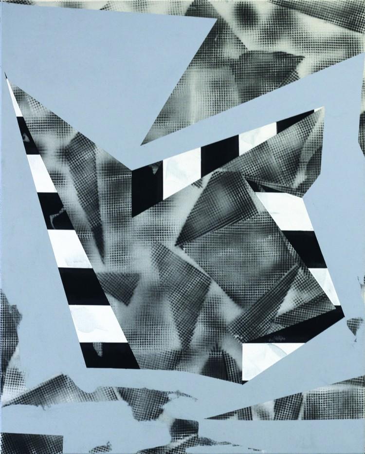 Art Alarm – Jessica Buhlmann, Cosmist, 2017, Öl, Mixed Media auf Leinwand, 100 x 80 cm