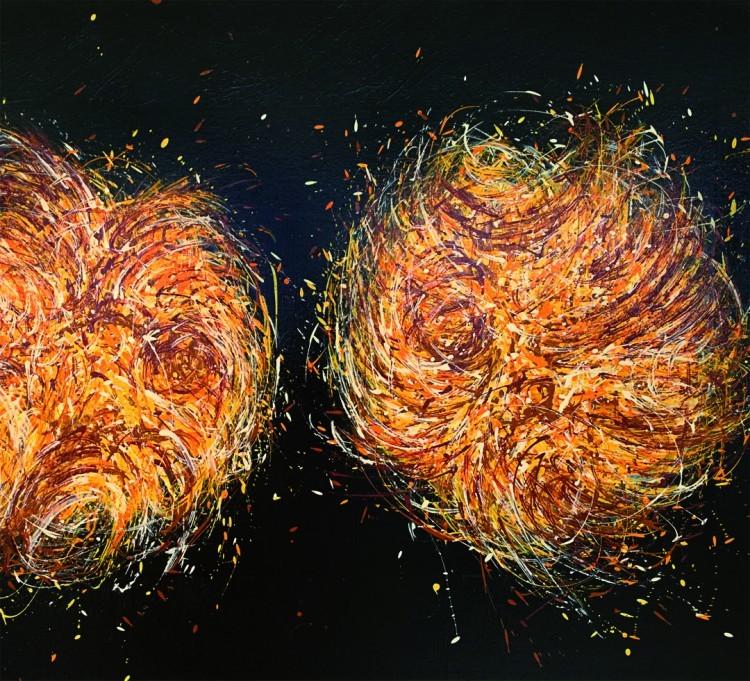 Art Alarm – Giuseppe Scaiola, Forma Primaria, 2018, Acryl auf Lw, 80 x 120 cm, Ausschnitt