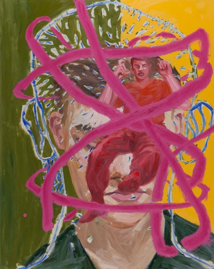 Art Alarm – Ivan Zozulya, Nr. 9 (Gesicht), 2017, Öl, Acryl/Leinwand, 150 x 120 cm