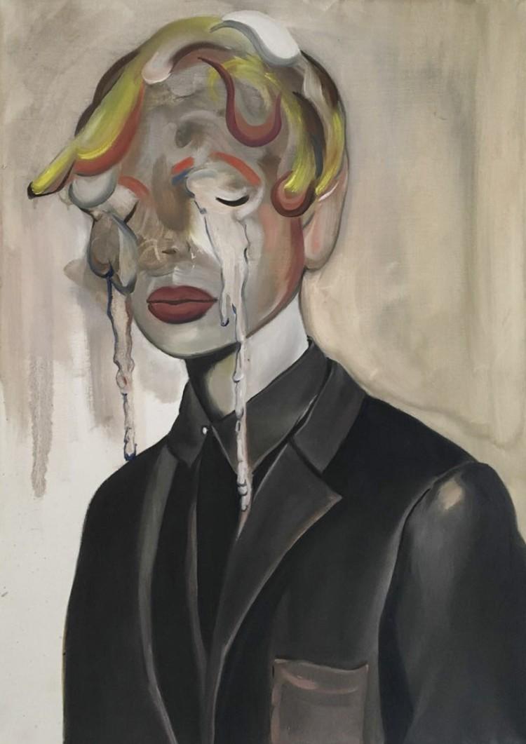 Art Alarm – Barbara Padron Hermandez, Because Life Won't Let, 2017, Öl/Leinwand, 70 x 50 cm