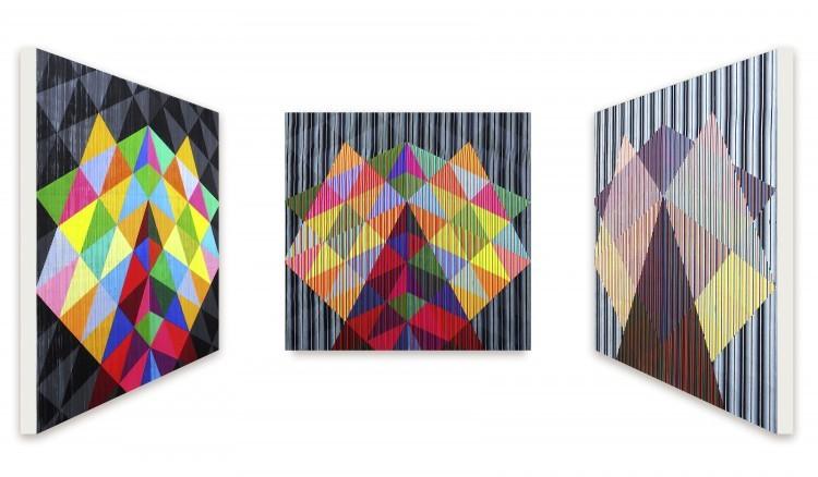 Art Alarm – Antonio Marra, der letzte Gruß ist edelbitter, 2015, Acryl auf Leinwand, 150 x 150 cm