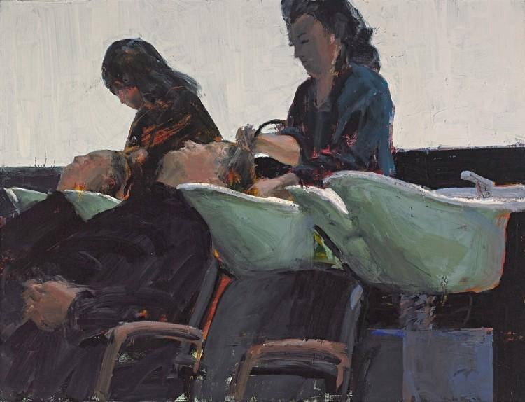 Art Alarm – Tirtzah Bassel, Shampoo, 2015, Öl auf Leinwand, 107 x 140 cm
