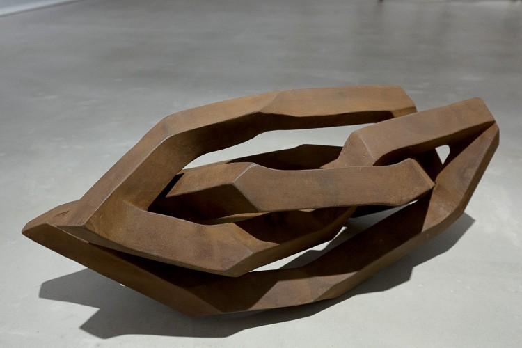 Art Alarm – Robert Schad, KALLES, 2008, Vierkantstahl massiv 45 mm, 59 × 28,5 × 26 cm