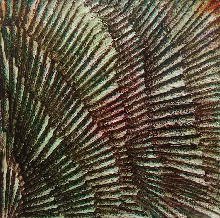 Art Alarm – Isa Dahl, borst (Ausschnitt), 2019, Öl auf Leinwand, 100 cm x 100 cm