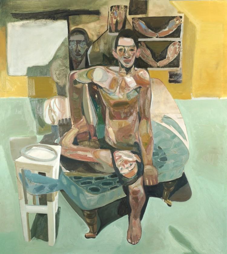 Art Alarm – Tesfaye Urgessa, Die Beobachteten18, 2018, Öl auf Leinwand, 200 x 180 cm