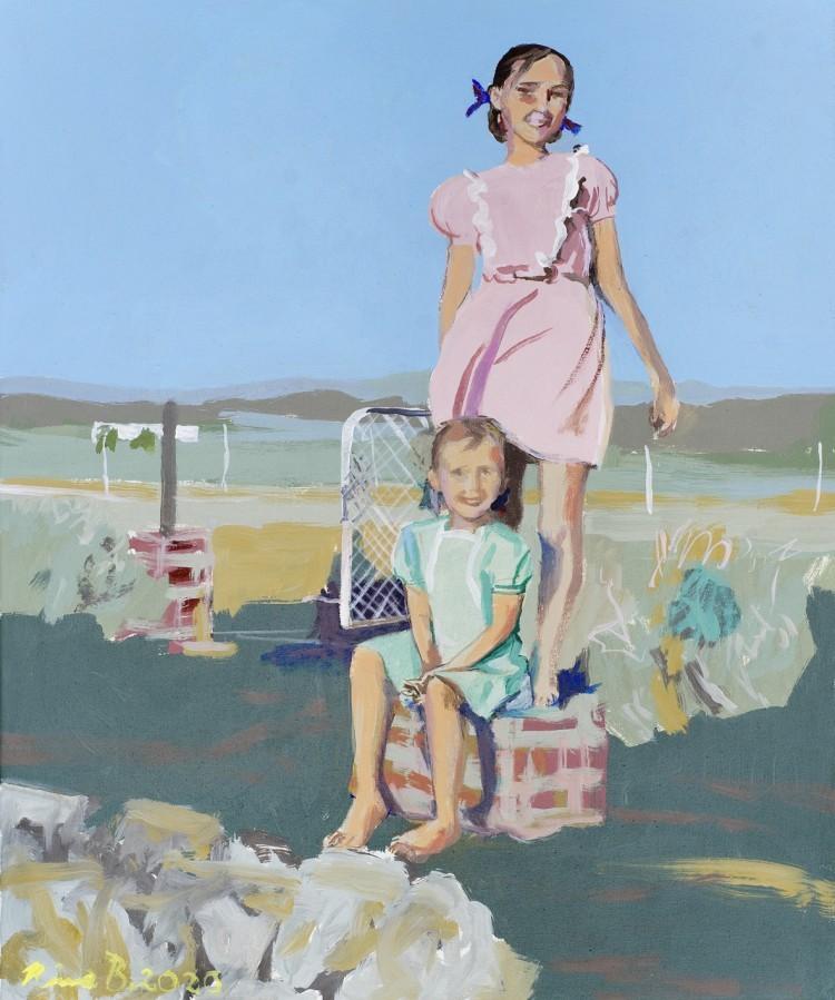 Art Alarm – Rina Böcher, What we believe, 2020, Acryl auf Leinwand, 60 x 50