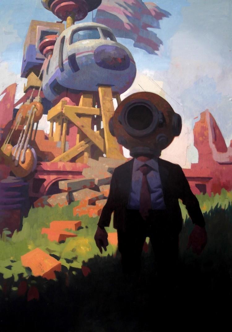 Art Alarm – Vitaly Medvedovsky: Meadow, 2020, Öl auf Leinwand, 170 × 120 cm