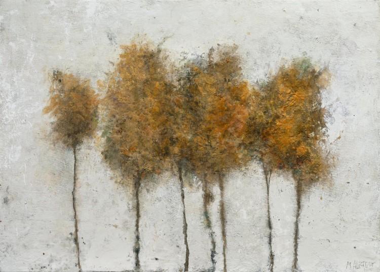 Art Alarm – Marlis Albrecht: Walden 117, 2021, Pigmente, Wachs, Holz, 75 × 105 × 4 cm