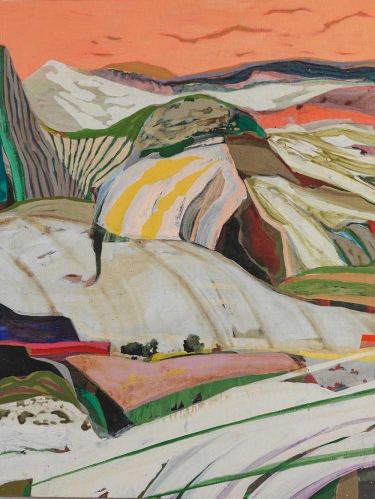 Art Alarm – Tschiegg, Landscape 77, 2021, Acryl/Lwd, 130 × 97 cm