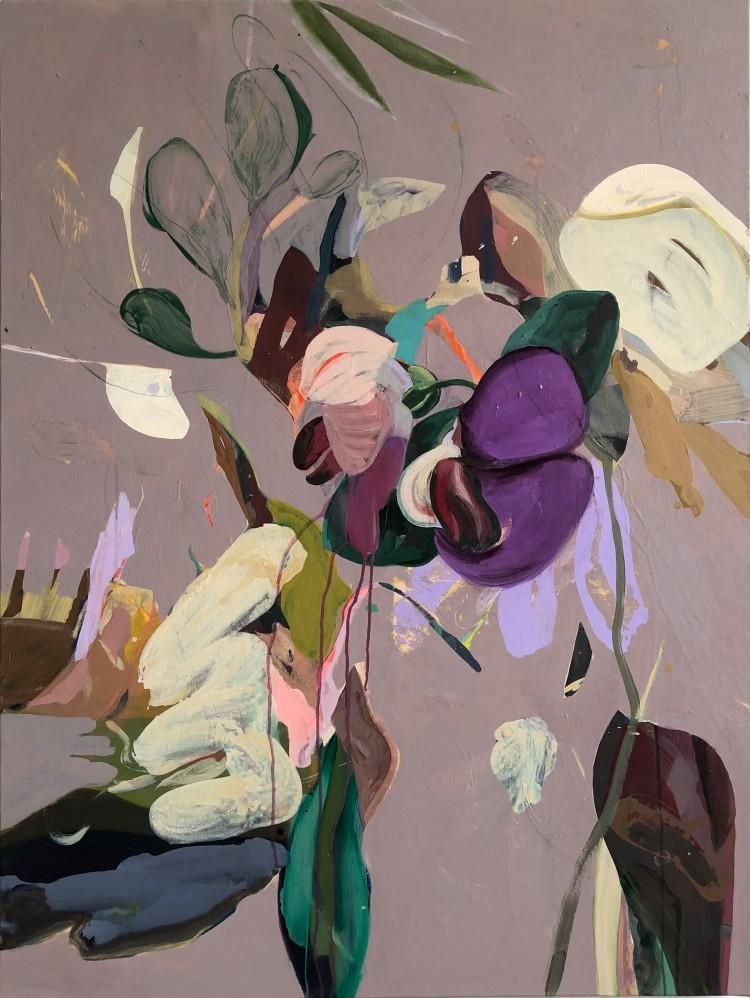 Art Alarm – Tschiegg, Botanique 27, 2021, Acryl/Lwd, 130 × 97 cm