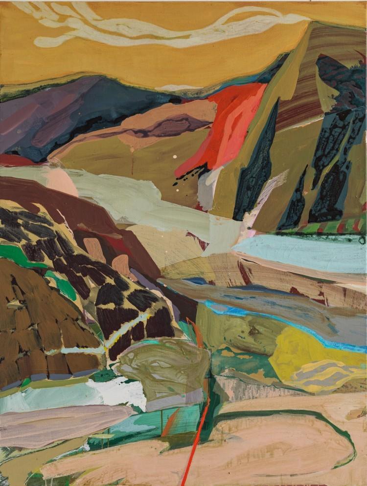 Art Alarm – Tschiegg, Landscape 47, 2021, Acryl/Lwd, 130 × 97 cm