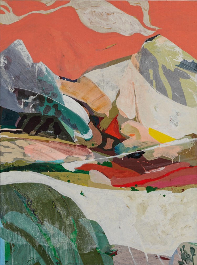 Art Alarm – Tschiegg, Landscape 54, 2021, Acryl/Lwd, 130 × 97 cm